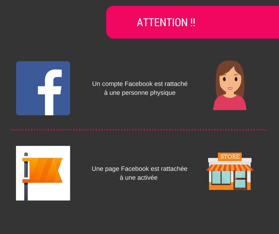 FB page vs compte